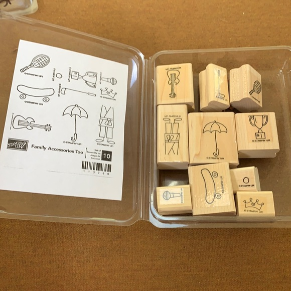 """Stampin' Up 10pcs """"Family Accessories Too"""" stamps"""